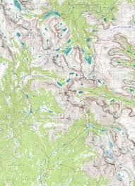 Little Creek Base Map Wind River Trail Maps Wyoming