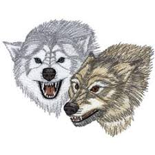 snarling wolves embroidery designs machine embroidery designs at