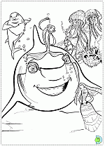 shark tale coloring pages coloring