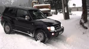 mitsubishi pajero mk3 in snow youtube