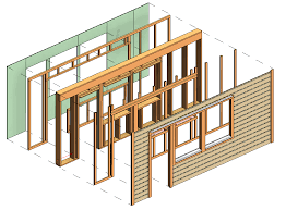 framing timber walls in revit model wood framing wall agacad