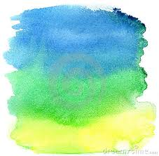 yellow green and blue watercolor brush strokes to wire pinterest