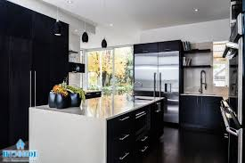 cool black and white kitchen design for chic and catchy look