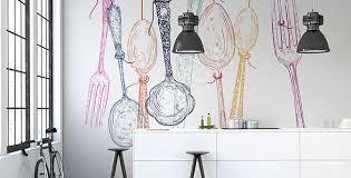 papier peint lessivable cuisine papiers peints cuisine mur aux dimensions myloview fr papier peint