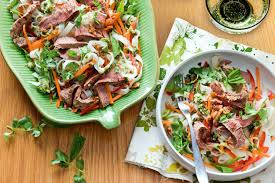 Noodle Salad Recipes Thai Beef And Rice Noodle Salad