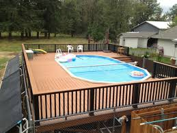 decorating swimming pool deck design ideas for backyard with wood