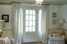 Long White Curtains Lace And Curtains The Best Window Treatment For French Doors
