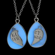 custom necklace pendants glow in pendant necklaces for women best friend jewelry