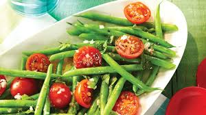 cuisiner des haricots verts salade de haricots verts et de tomates cerises recettes iga