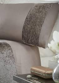 luxury crushed velvet panel duvet quilt cover bed linen bedding
