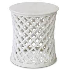 round coffee table and end tables mamounia global bazaar white marble fretwork round side table