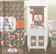 fox trail floral bathroom accessories set personalized potty