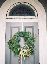 wedding wreaths picture of winter wedding wreath with rope on the s home door
