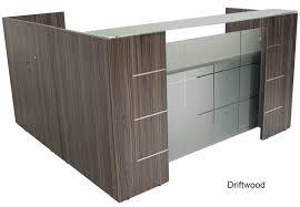 Reception Desk Miami by Shaped Glass Front Reception Desk