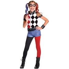 Walmart Halloween Costumes Teenage Girls Dc Superhero Girls Harley Quinn Deluxe Child Halloween Costume