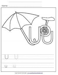 letter u worksheets recognize trace u0026 print