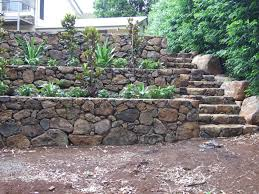 Bush Rock Garden Edging Rock Retaining Walls Landscaping Design Construction