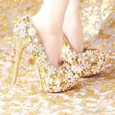 wedding shoes platform cheap 2017 fashion comfortable gold wedding shoes women shoes