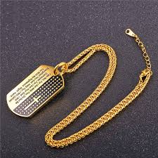 bible verse jewelry aliexpress buy u7 dog tag cross necklaces pendant gold
