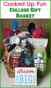 gift baskets for college students cooked up college gift basket www thefarmgirlgabs