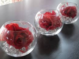 Red Vases And Bowls Glass Bowls For Centerpieces Diy Rose Centerpieces For Under