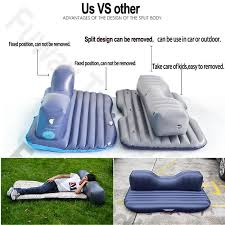 offroad travel inflatable car bed with pillow inflatable seat