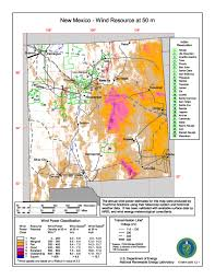 Maps New Mexico by File New Mexico Wind Resource Map 50m 800 Jpg Wikimedia Commons