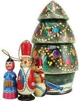 deal alert 4 5 set of 6 matryoshka russian nesting dolls wooden