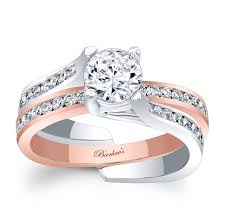 two tone gold engagement rings barkev s two tone bridal set 7972stw