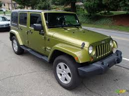 2007 green jeep wrangler 2007 rescue green metallic jeep wrangler unlimited 4x4