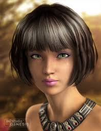 page bob hairstyle little melody hair 3d models and 3d software by daz 3d