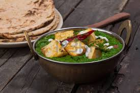 cuisine decorative indian punjabi cuisine palak paneer made up of spinach and cottage