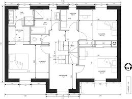 plan maison etage 4 chambres gratuit plan maison gratuit r 1 newsindo co
