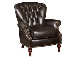 Leather Club Chair Hooker Furniture Club Chairs Traditional Leather Nailhead Trim