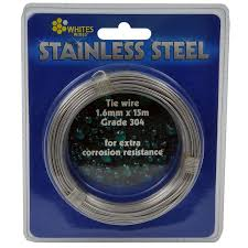 whites 1 60mm x 15m stainless steel 304 grade tie wire bunnings