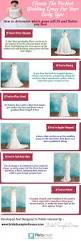 choose the perfect wedding dresses for your body type visual ly