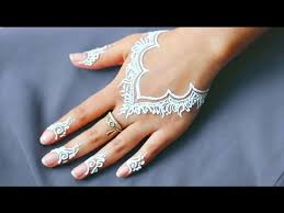 casual everyday hand necklace white henna tattoo design