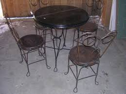 ice cream parlor table and chairs set antique ice cream parlor table chairs