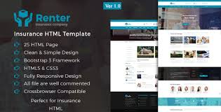 insurance company templates from themeforest