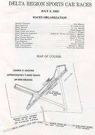 Map Of New Orleans Airport by Covers Delta Region Scca Road Races July 1955 Race Program