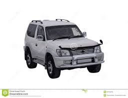 land cruiser prado car the car toyota land cruiser prado white on a white background