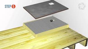 installing a raised wetroom base on a wooden floor wetrooms