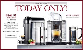 target canada black friday 2013 flyer hudson u0027s bay canada black friday pre sale save 43 off nespresso