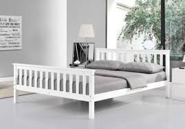 5ft Bed Frame White Wooden Bed Frame Solid Pine Country Shaker 5ft Bed Wh