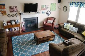 Teal And Brown Living Room Decor nurani