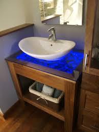 Led Bathroom Vanity Out Of The Box Bathrooms Diy Vanity Rope Lighting And Countertop