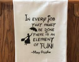 mary poppins quote pendant in every job that must be