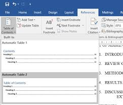 create table of contents in word 10 best table of contents templates for microsoft word