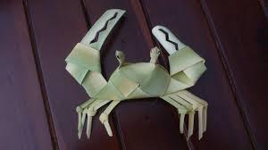 cara membuat kerajinan tangan dari janur cara membuat ketupat kepiting dari daun kelapa youtube
