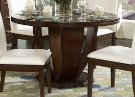 Round Dining Table And Chairs Round Dining Tables For 6 Black Stained Wooden Island Set Design